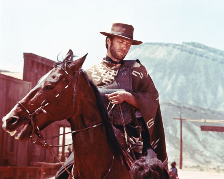 Clint Eastwood as the 'Man with No Name' character, which he played in the series of 'Spaghetti Westerns' directed