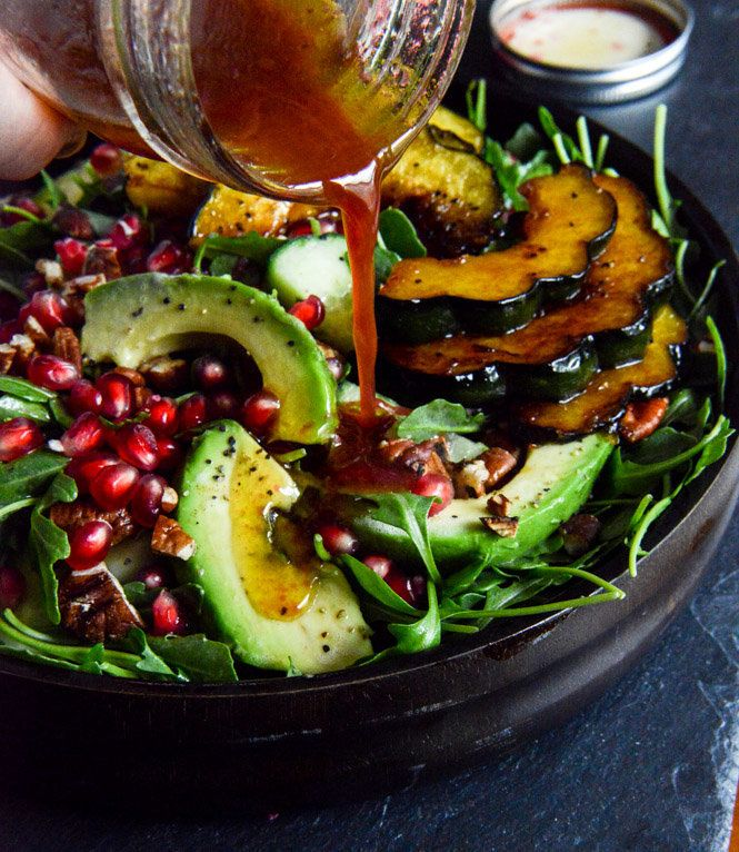 "<strong>Get the <a href=""http://www.howsweeteats.com/2013/10/autumn-arugula-salad/"" target=""_blank"">Autumn Arugula Salad Reci"
