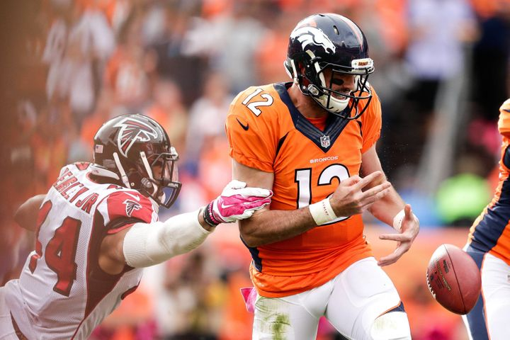 Defensive end Vic Beasley Jr. -- the Falcons' No. 1 draft pick in 2015 -- had 3 1/2 sacks against Paxton Lynch and the B