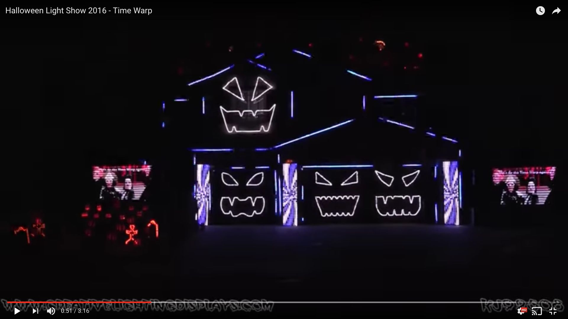This Halloween light show in California promises a howling good time for viewers