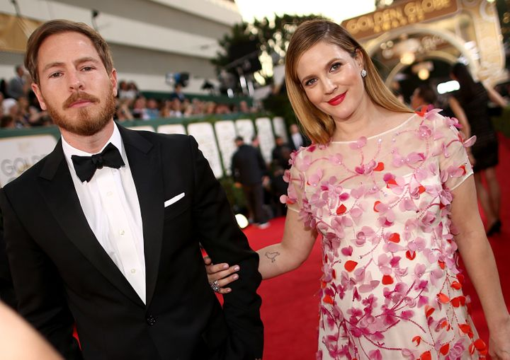Drew and her ex Will Kopelman at the 2014 Golden Globes, prior to their split.