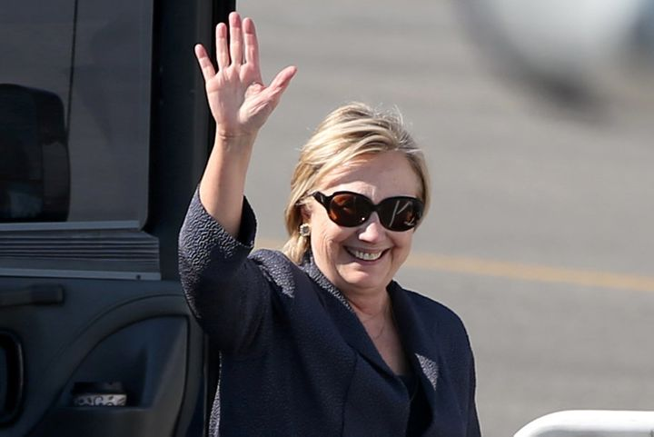 Democratic presidential nominee Hillary Clinton in White Plains, New York, onTuesday. In theScholastic News mock