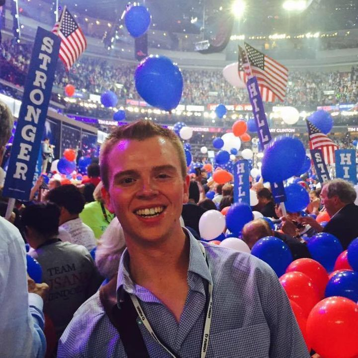 Zachary Stepp at the 2016 Democratic National Convention