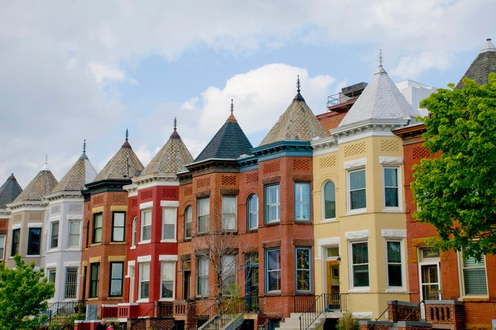 A block of rowhouses in D.C.