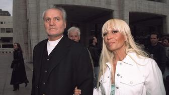UNITED STATES - MAY 02:  Gianni Versace and sister Donatella attending American Ballet Theatre Spring Gala at Lincoln Center.  (Photo by Richard Corkery/NY Daily News Archive via Getty Images)