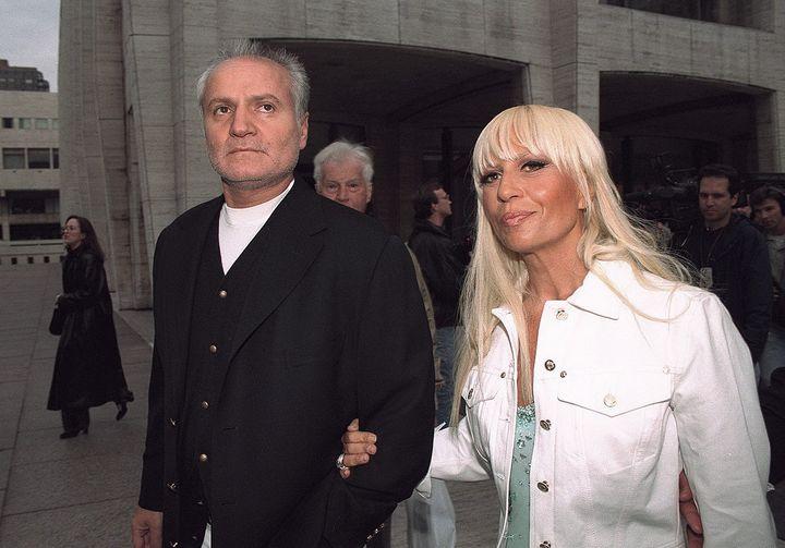 Gianni Versace and sister Donatella Versace.