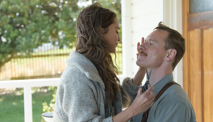 """Alicia Vikander and Michael Fassbender in """"The Light Between Oceans."""""""