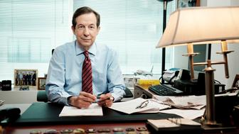 WASHINGTON, DC - JULY 23: Chris Wallace, host of Fox News Sunday, works in his office at the Fox studios near Capitol Hill in Washington, DC on July 23, 2015. Wallace will be hosting the first debate in the Republican presidential primary and is working on his preparations for the task. Wallace said that his goal is to engage candidates in conversation with each other and avoid a scene that feels like ten separate news conferences. (Photo by T.J. Kirkpatrick for The Washington Post via Getty Images)