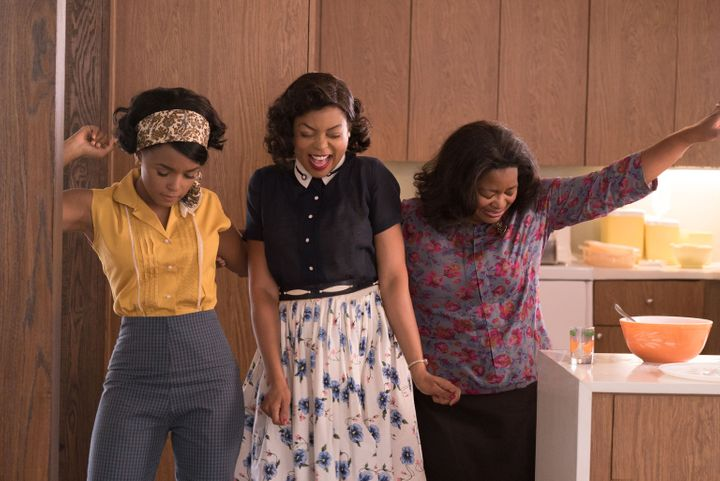 "Janelle Monáe, Taraji P. Henson and Octavia Spencer star in a scene from ""Hidden Figures."""