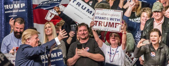 Donald Trump in Reno, Nevada, photograph by Darron Birgenheier