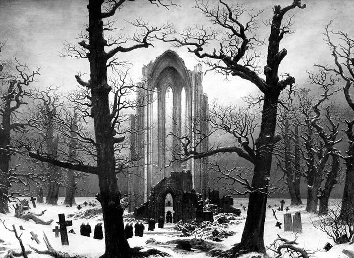 "Caspar David Friedrich's ""Monastery Graveyard in the Snow"""