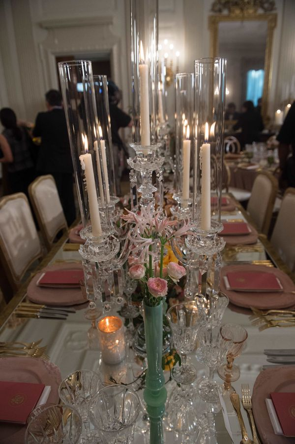 View of a table setting.(Nicholas Kamm/AFP/Getty Images)