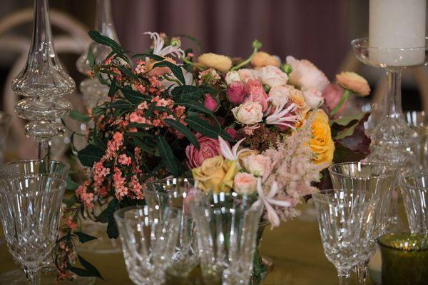View of a flower arrangement.(Nicholas Kamm/AFP/Getty Images)