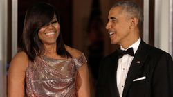 Michelle Obama Drops Jaws In A Chainmail Versace Gown At Her Last State