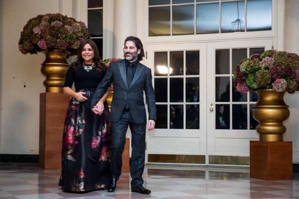 Chef Rachael Ray and John Cusimano.(Photo by Zach Gibson/AFP/Getty Images)
