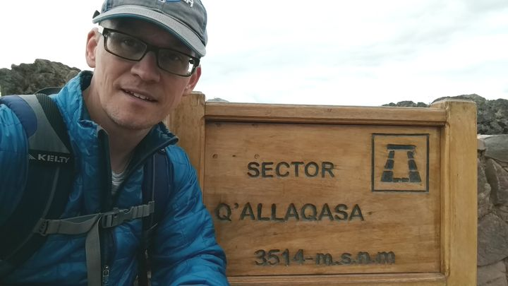 Trying to acclimate at the Incan ruins of Picac, 11,500 feet above sea level.