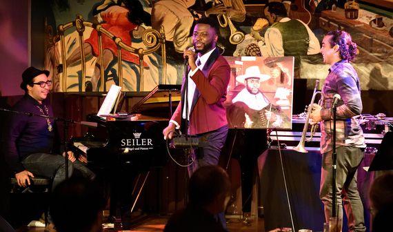 L-R: Pianist Henry Jeria, singer Dannis Winston and trumpeter Joel Fuentes