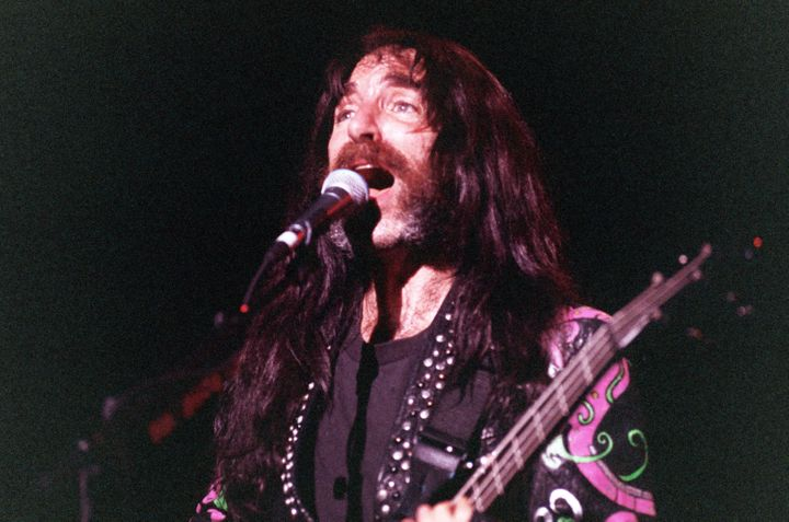 Harry Shearer, seen here in a 1992 photo, playing bassist Derek Smalls of Spinal Tap, has filed a $125 million lawsuit against Vivendi over profits from the band's film and music.