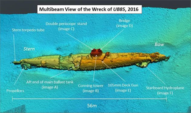 A view of the wreck, believed to be that of the