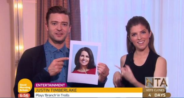 Justin made an appearance on 'Good Morning