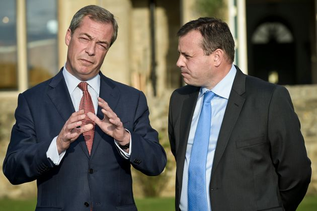Arron Banks (r) with Nigel Farage in