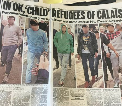 Another article that appeared in the Daily Mail last week carrying clear photos of refugees (Pixelation...
