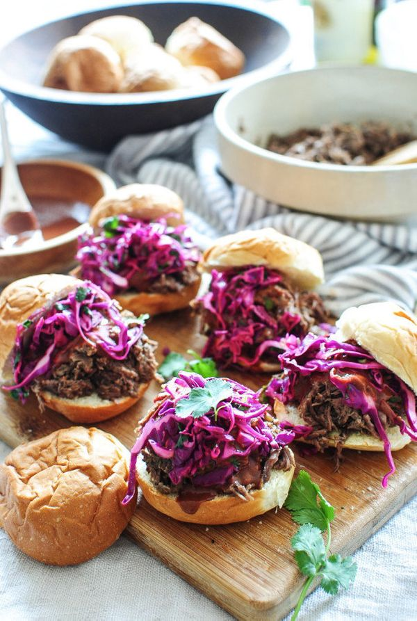 "<strong>Get the <a href=""http://bevcooks.com/2016/03/slow-cooker-bbq-beef-sliders/"" target=""_blank"">Slow Cooker BBQ Beef Slid"