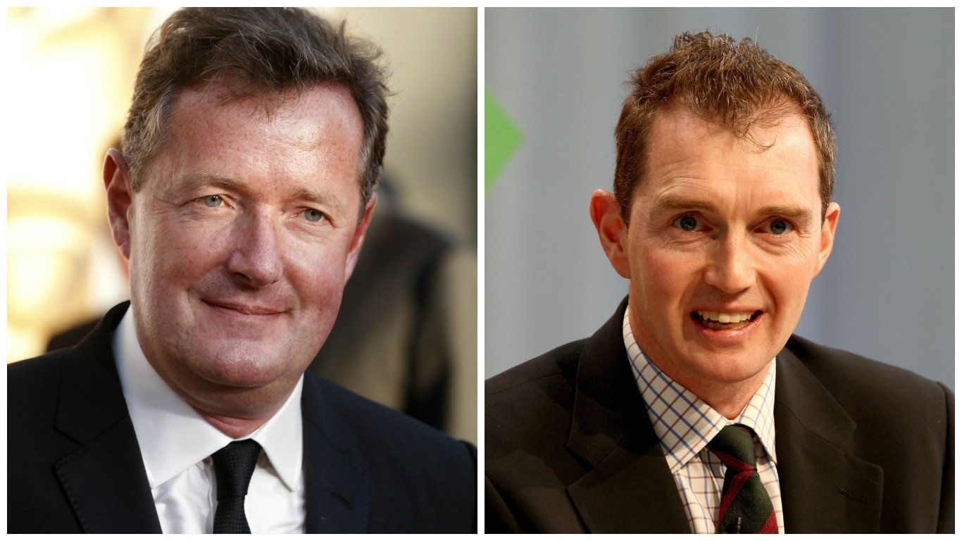 Piers Morgan (left) and David Davies