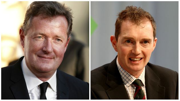 Piers Morgan and David Davies, probably off each other's Christmas card