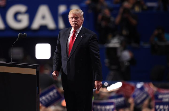 Republican presidential candidate Donald Trump accepts the party's nomination for president on thefinal night of the Re