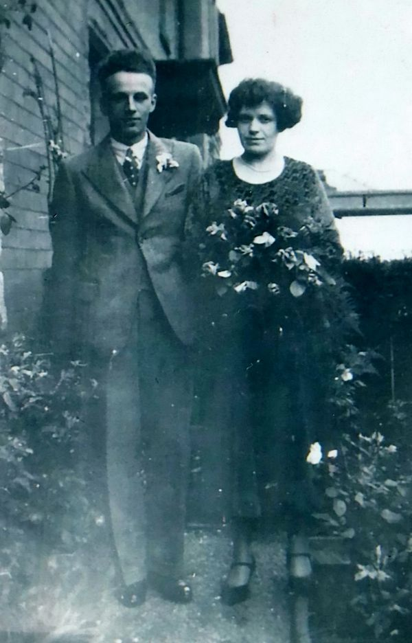 Jack Mansfield with his late wife, Beatrice.