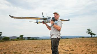 A demonstration of an Air Shepherd drone in South Africa