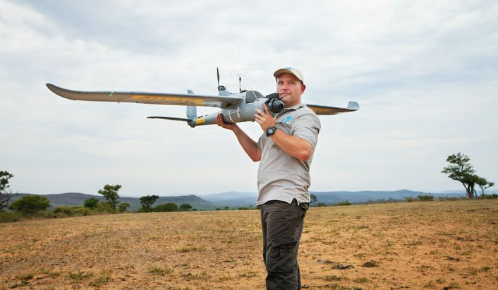 A demonstration of an Air Shepherd drone in South Africa.