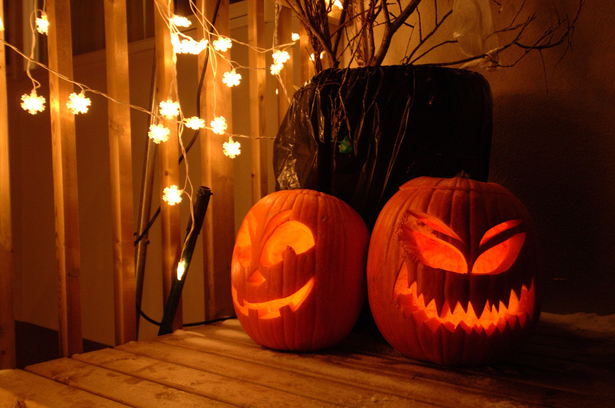 People believed carved pumpkins could ward off evil spirits.