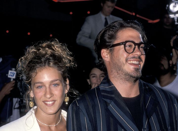 Sarah Jessica Parker and Robert Downey, Jr. in June 1989.