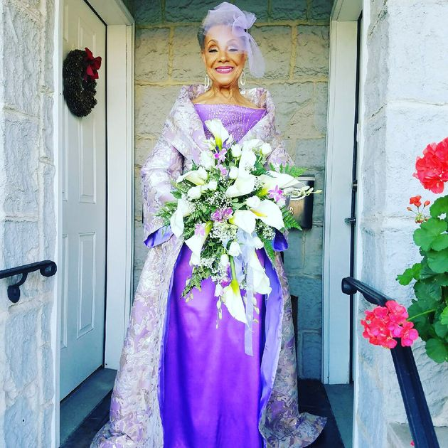 Millie Taylor-Morrison, who was a model in the 1950s, designed the wedding dress herself. Designer Marco...