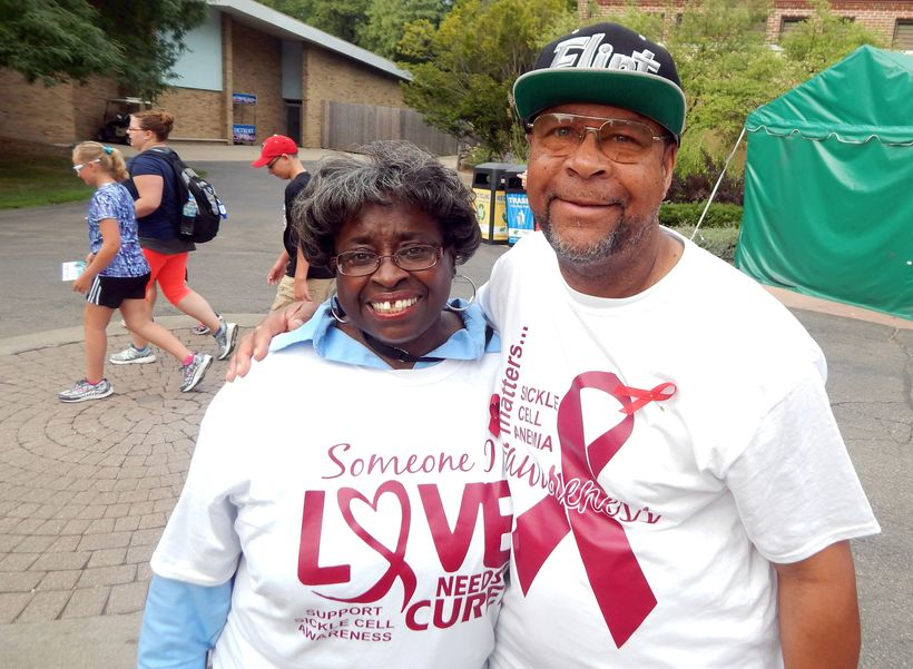 Kynnedi's grandparents, Linda and Eddie Booth, started a sickle cell awareness walk in Flint, Mich., during the summer of 201