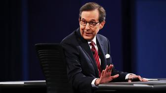 LAS VEGAS, NV - OCTOBER 19:  Fox News anchor and moderator Chris Wallace speaks to the guests and attendees during the third U.S. presidential debate at the Thomas & Mack Center on October 19, 2016 in Las Vegas, Nevada. Tonight is the final debate ahead of Election Day on November 8.  (Photo by Win McNamee/Getty Images)