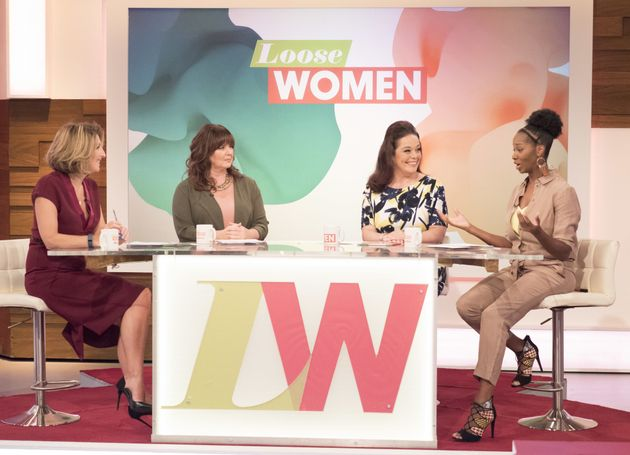 Jamelia during her most recent 'Loose Women' appearance in
