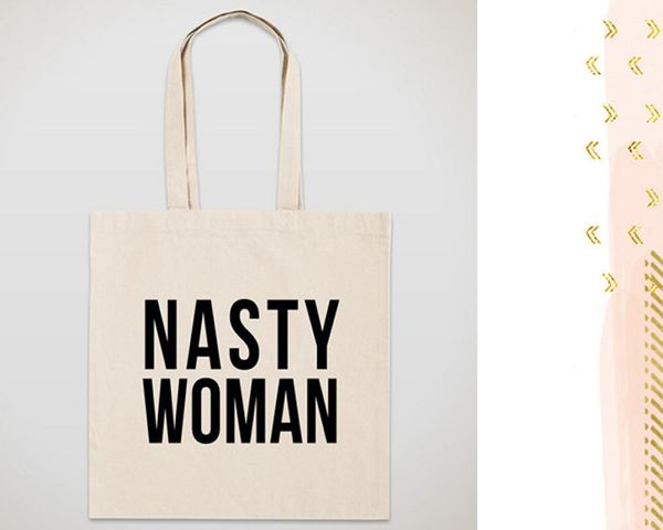 "Nasty Woman tote bag, <a href=""https://www.etsy.com/listing/473026164/nasty-woman-tote-bag?ga_order=most_relevant&ga_sear"