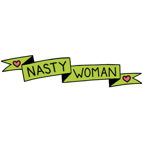 "Nasty Woman enamel pin, <a href=""https://www.etsy.com/listing/473007538/pre-order-nasty-woman-enamel-pin"" target=""_blank"">$11"