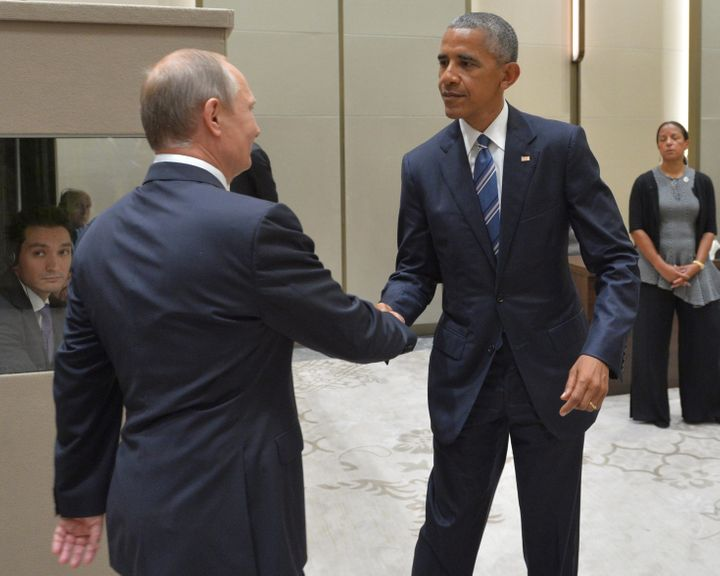 Putin meets with Obama at the G20 summit in Hangzhou, China, on Sept. 5.