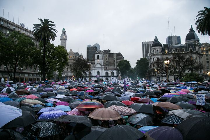 Thousands of women set to protest in Buenos Aires, Argentina, on 19 October 2016.
