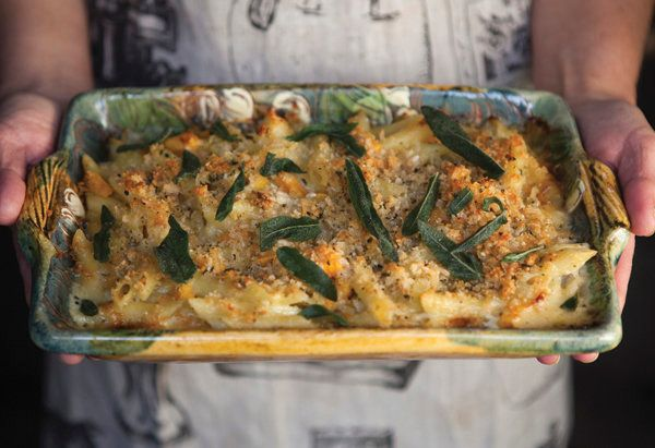 This take on crowd-pleasing baked ziti (which actually calls for penne) is plenty cheesy, thanks to a mixture of Fontina, blu
