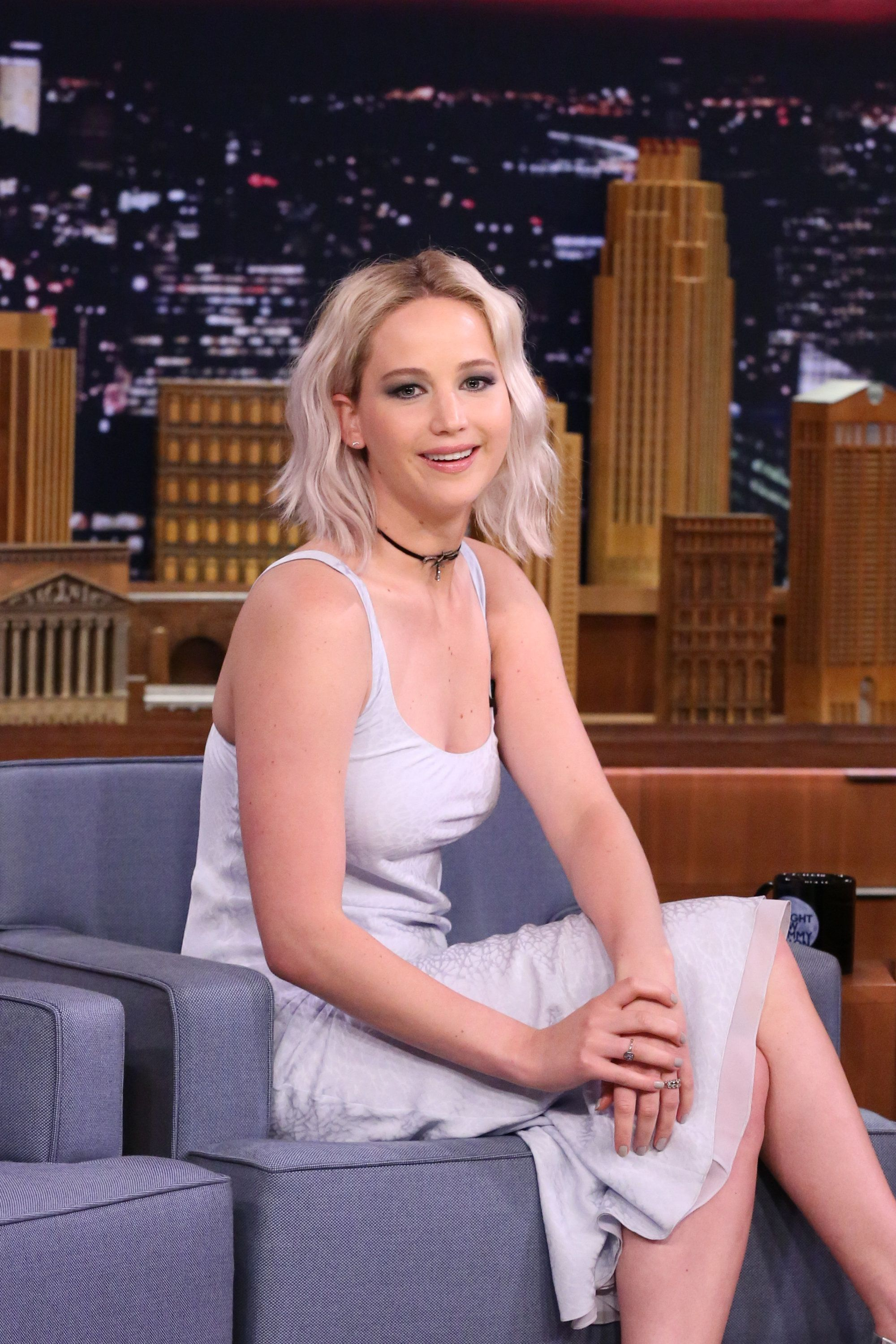 THE TONIGHT SHOW STARRING JIMMY FALLON -- Episode 0477 -- Pictured: Actress Jennifer Lawrence on May 23, 2016 -- (Photo by: Andrew Lipovsky/NBC/NBCU Photo Bank via Getty Images)