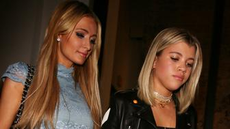 Sofia Richie and Paris Hilton leave Catch in Los Angeles, California on October 20, 2016.