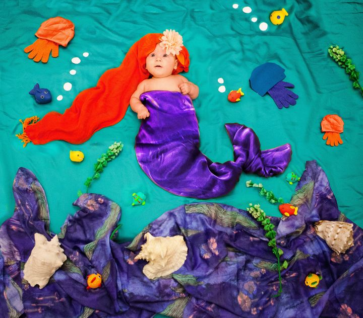 Julha Ldro takes delightful photos of her 4-month-old daughter, Alice, set in colorful storybook scenes.