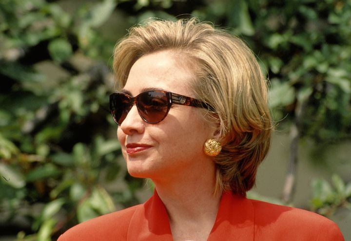 First lady Hillary Clinton in 1997.