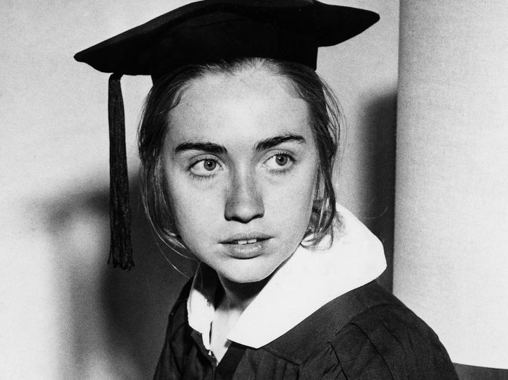 Hillary Rodham as a Wellesley college senior in May 1969.