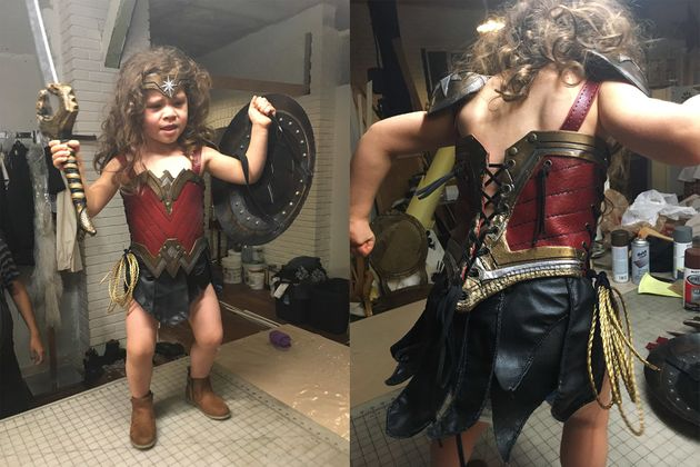 Dad Transforms 3-Year-Old Daughter Into The Fiercest Wonder Woman